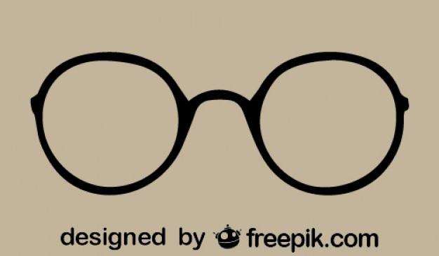 Gafas de montura redonda vintage