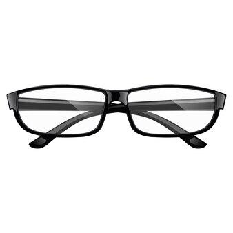 Gafas negras realistas. vista superior.