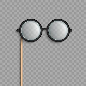 Gafas de palo, anteojos accesorios de fotomatón.