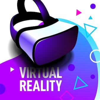 Gafas de realidad virtual con auriculares realistas