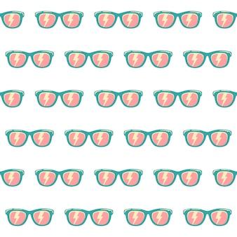 Gafas de sol de fondo de patrones sin fisuras con color, patrón de gafas de sol vintage