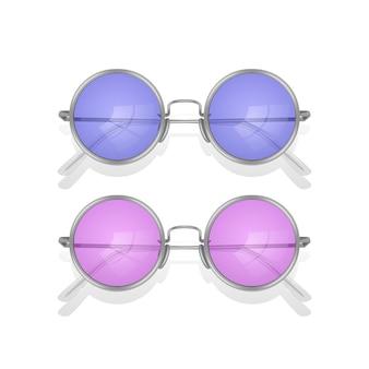 Gafas de sol realistas aisladas