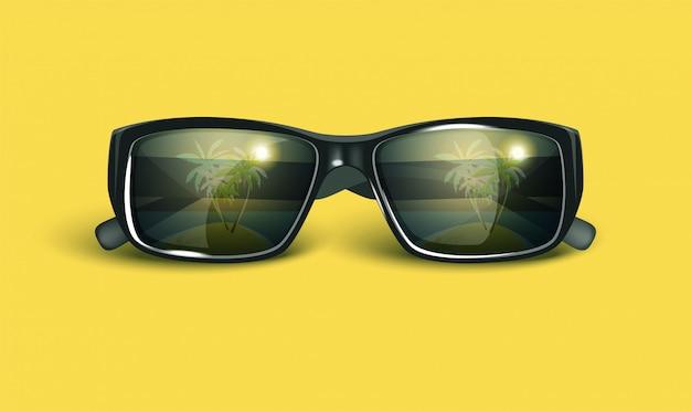 Gafas de sol retro de verano.