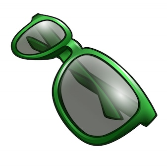 Gafas de sol verdes aisladas