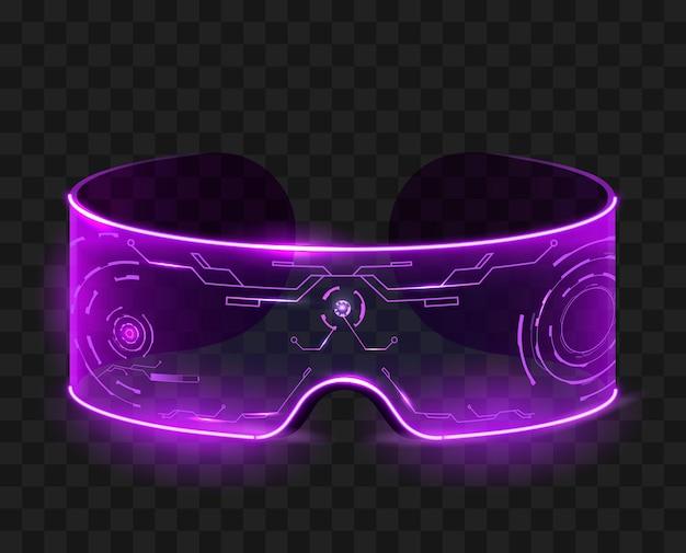 Gafas de techno aisladas