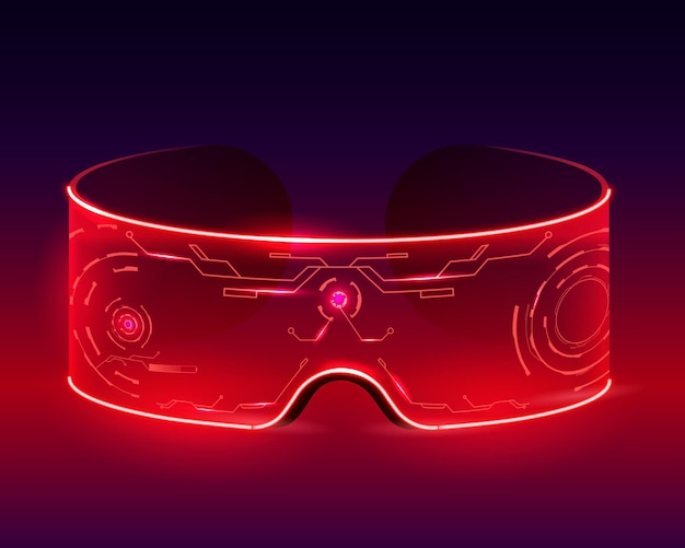 Gafas de techno futurista