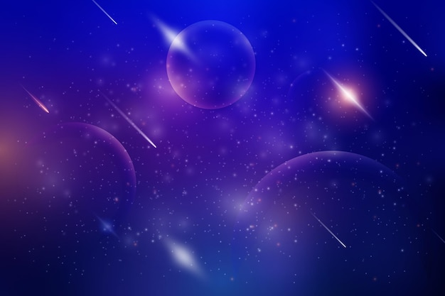 Galaxia degradada con fondo de estrellas