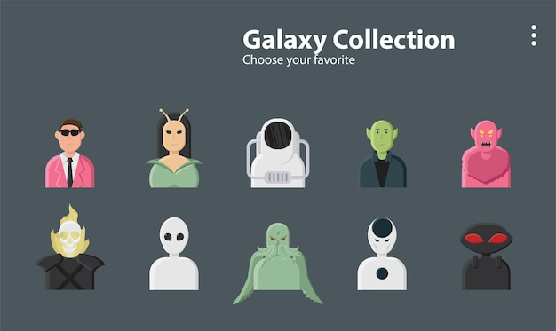 Galaxia hombres alienígenas lovecraft cthulhu astronauta planeta universo ilustración personaje de fondo