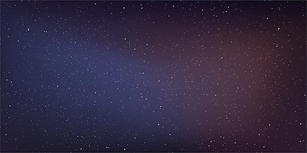 Galaxia de la vía láctea en el fondo del cosmos.