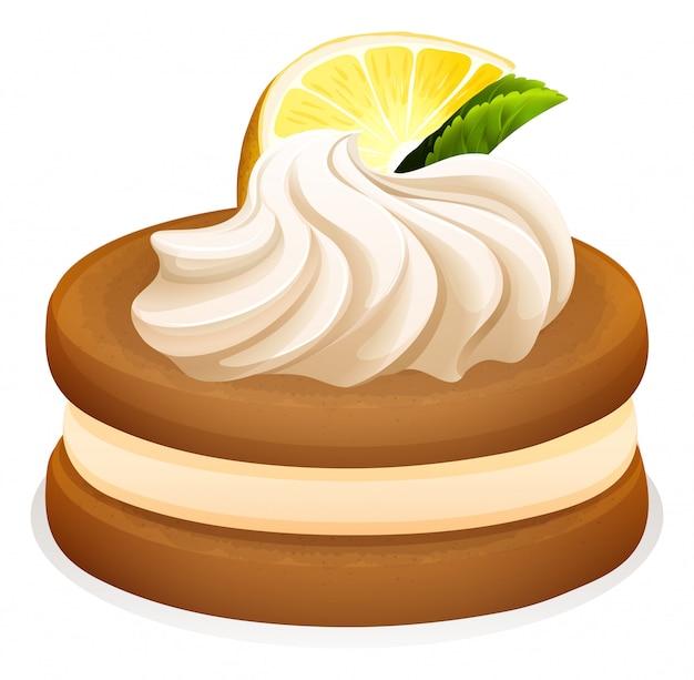 Galleta con limón y nata