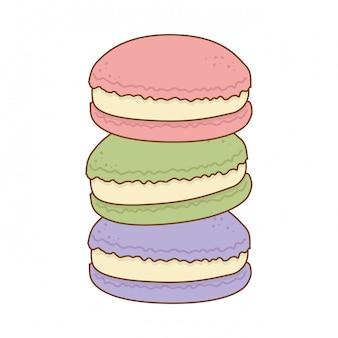 Galletas dulces deliciosas productos de pastelería.