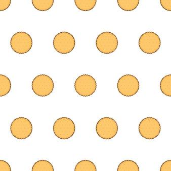 Galletas de galletas de patrones sin fisuras sobre un fondo blanco. ilustración de vector de tema de galleta
