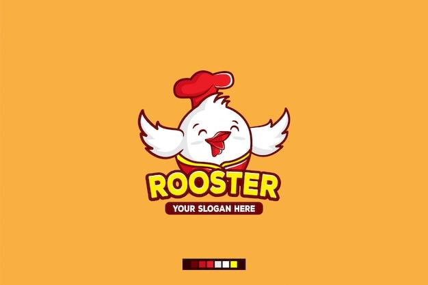Gallo logo personaje de dibujos animados