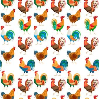 Gallos de colores sin patrón