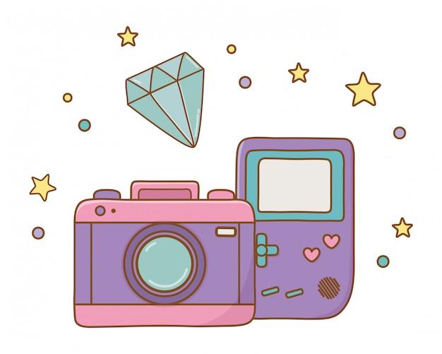 Game boy cámara y diamante
