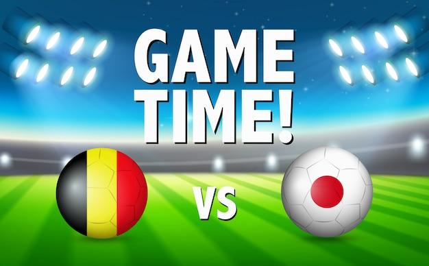 Game time belgium vs japón