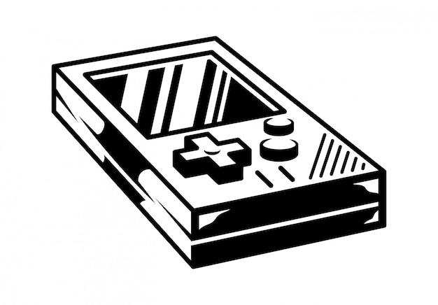Gamepad vintage de la vieja escuela para jugar videojuegos retro gamer arcade.