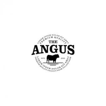 Ganado granja logotipo - angus cow farm