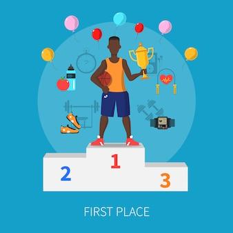Ganador del deporte concepto