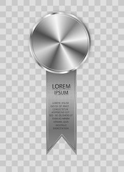 Ganador premio concurso medalla de premio y banner para texto medallas de premio aisladas