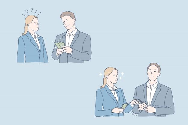 Ganar más dinero, bonificación, concepto de aumento salarial