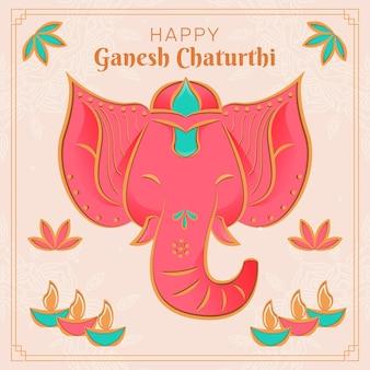 Ganesh chaturthi con elefante