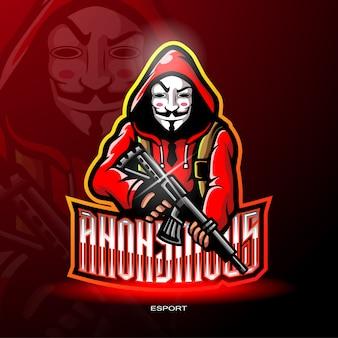 Gangster mascota para logotipo de juegos.
