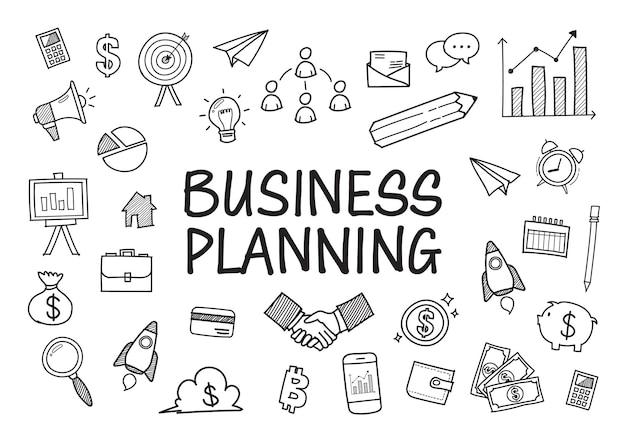 Garabatos de negocios elementos dibujados a mano