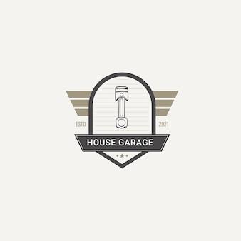 Garaje auto reparación insignia vector logo