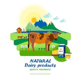 Garantía de calidad de productos lácteos naturales