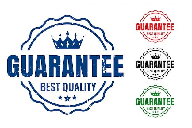 Garantice sellos de goma de la mejor calidad en cuatro colores.