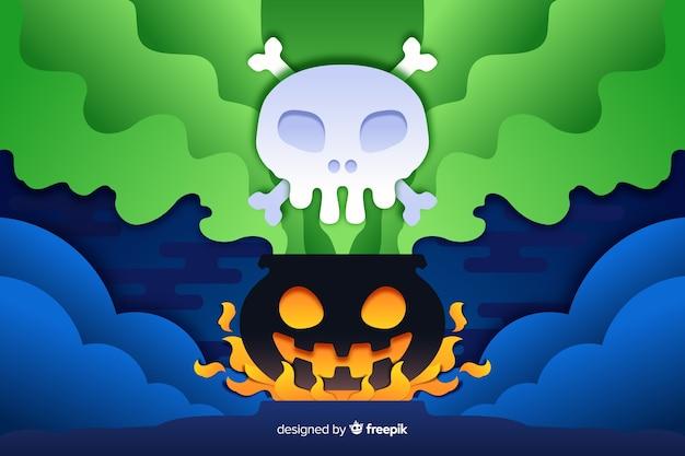 Gas venenoso de crisol de fondo de halloween