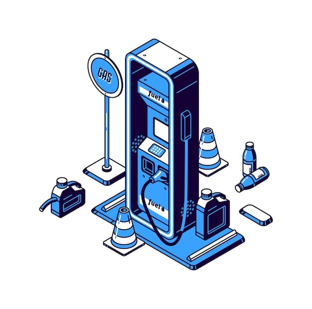 Gasolinera isométrica