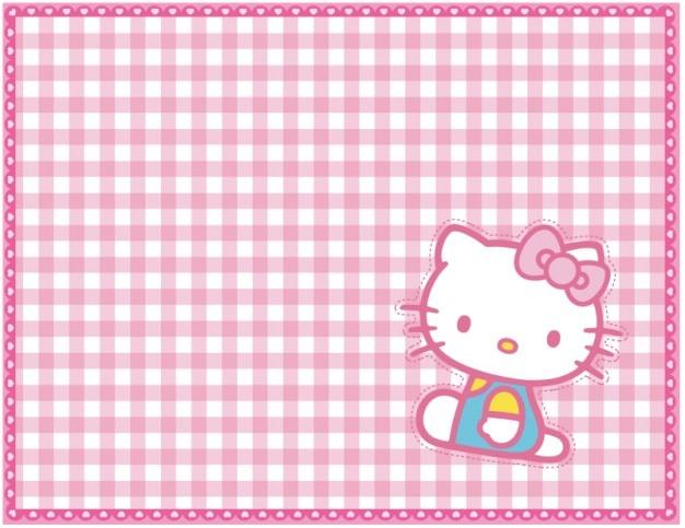 Gatito rejilla de color rosa de fondo vector