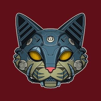 Gato de cabeza de máquina