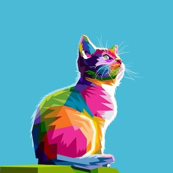 Gato fresco colorido
