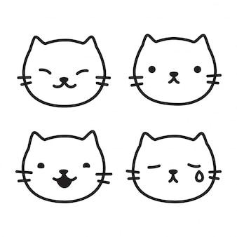 Gato gatito de dibujos animados