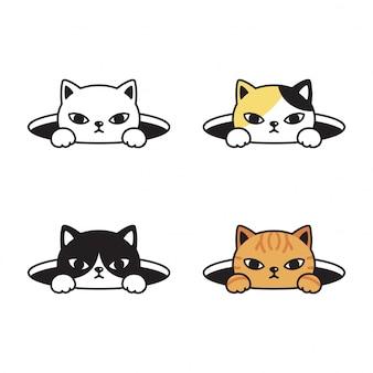Gato gatito dibujos animados