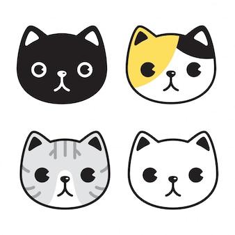 Gato gatito icono cara