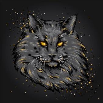 Un gato hermoso. gatito gracioso.