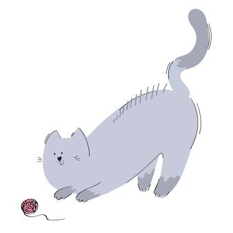 Gato y una pelota