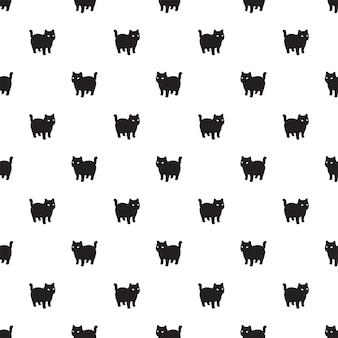 Gato, seamless, patrón, gatito, calicó, caricatura
