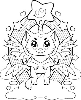 Gato unicornio