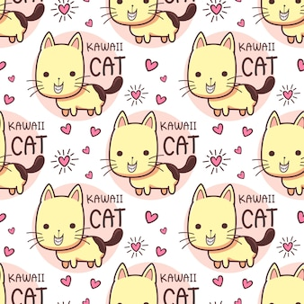 Gatos de patrones sin fisuras sonriendo sonriendo dientes
