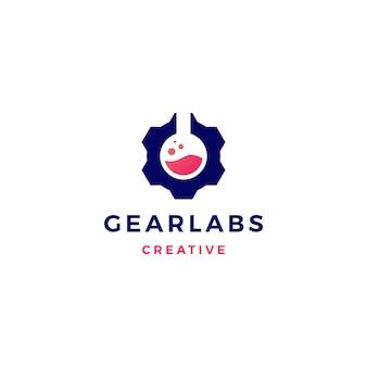 Gear labs logo vector icono ilustración
