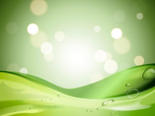 Gel calmante verde con botella cosmética
