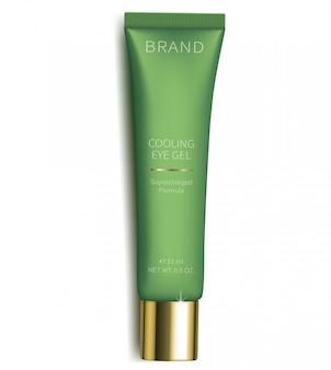 Gel cosmético para el cuidado de la piel de los ojos.