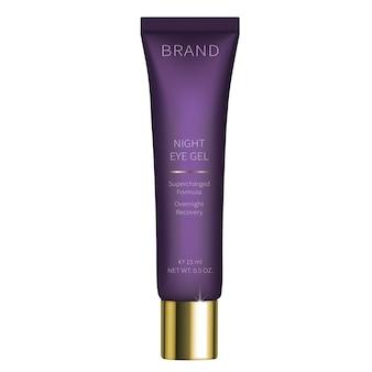 Gel cosmético nocturno para el cuidado de la piel del ojo.
