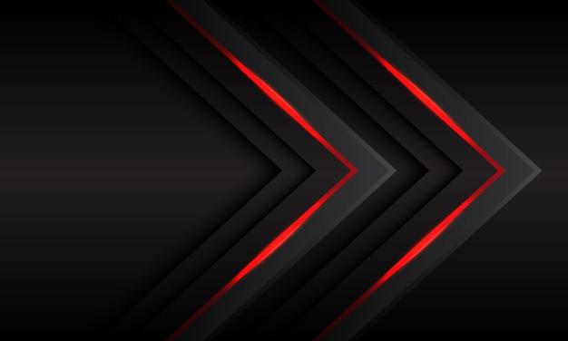 Gemelo gris oscuro flecha roja luz diseño moderno fondo futurista.
