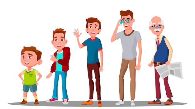 Generación caucásica masculina
